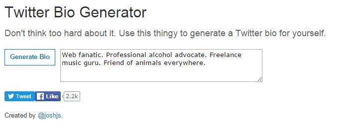 twitter bio generator_